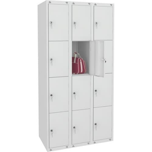 Шкаф металлический для сумок 12 ячеек (1200х490х1850) арт. ШМ312/400