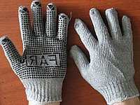 Перчатки хозяйственные с резиновой пропиткой