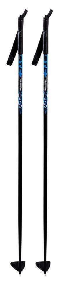 Палки лыжные 100% стекловолокно STC ACTIVE рост 130, синий