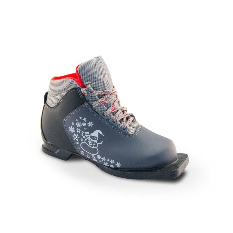 Ботинки лыжные 75мм М-350 MARAX  серый р.33
