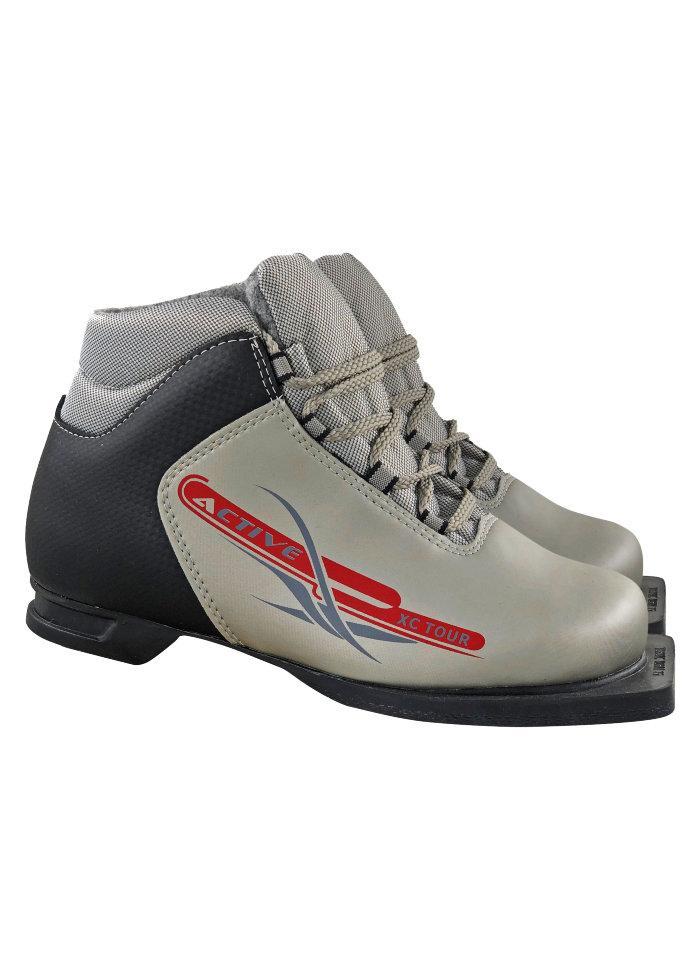 Ботинки лыжные 75мм М350 ACTIVE серебро р.33