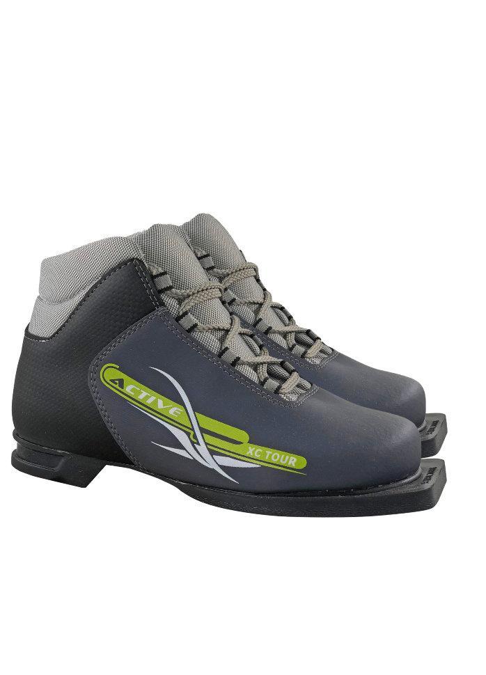 Ботинки лыжные 75мм М350 ACTIVE серый р.34