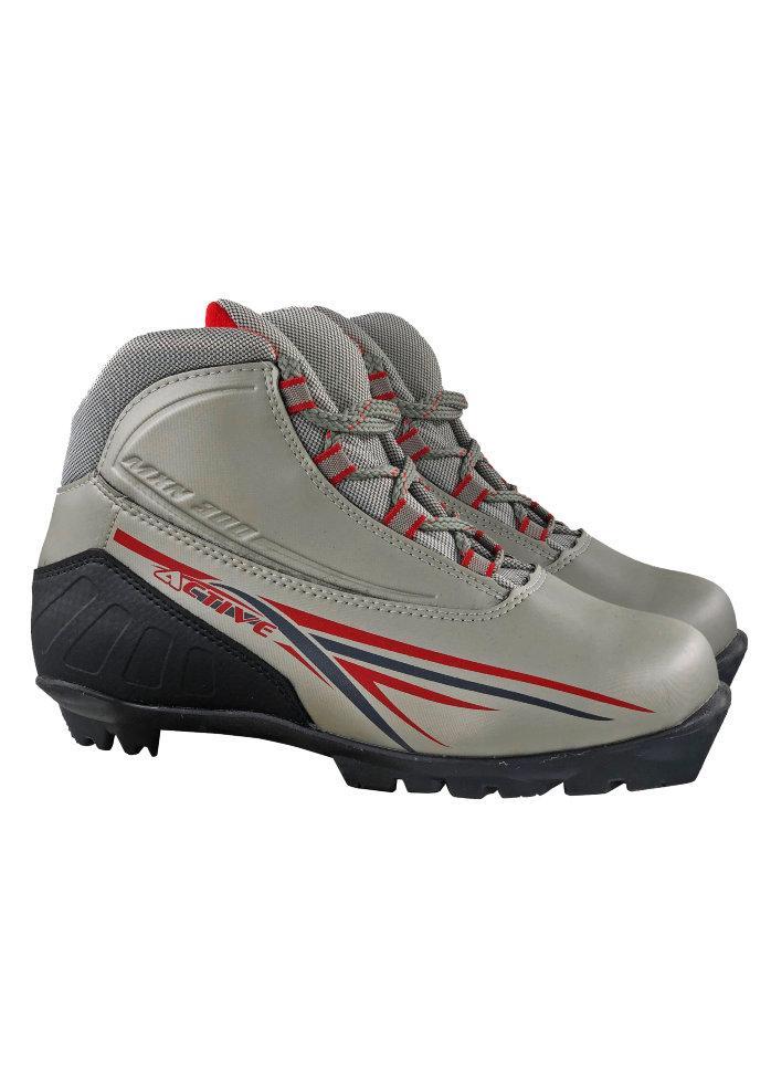 Ботинки лыжные NNN МXN300 ACTIVE серебро р.34