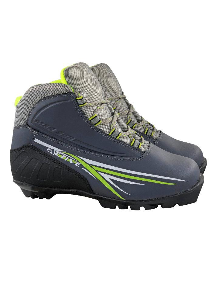 Ботинки лыжные NNN МXN300 ACTIVE серый р.34