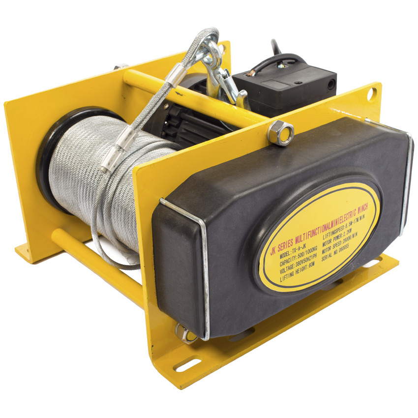 Лебедка EWH 500 (TOR KDJ-500B1-30) электрическая (500кг) L=60М, 380 V