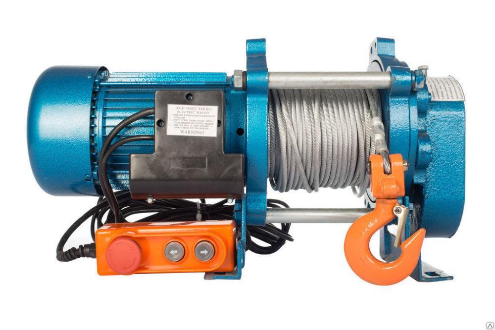 Лебедка TOR KCD-1000 E21 (1000 KG, 380 В) с канатом 100 М