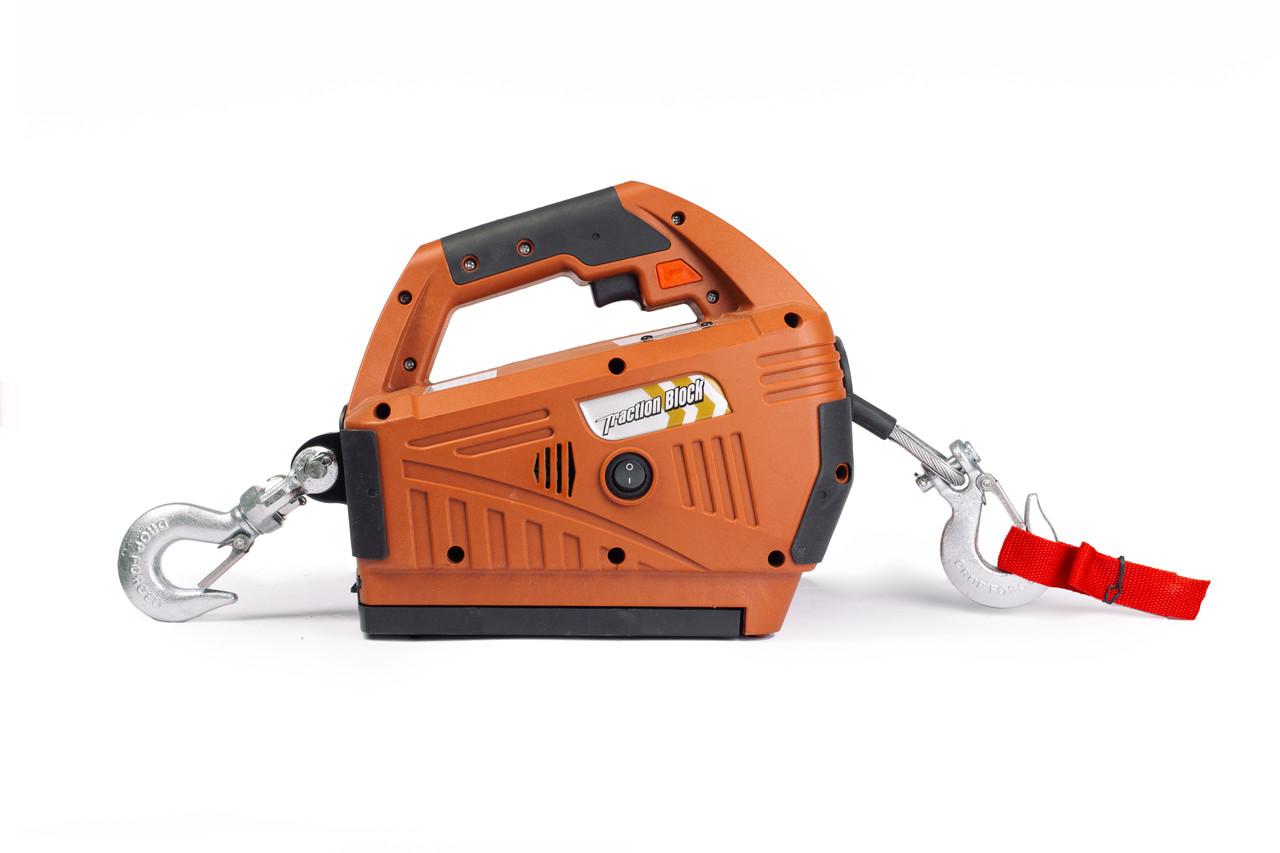 Лебедка переносная 450 кг электрическая TOR SQ-02 4,6 М 220 В с пультом