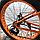 """Велосипед фэтбайк LauxJack 26"""" складной, резина 4.0, оранжевый, фото 2"""