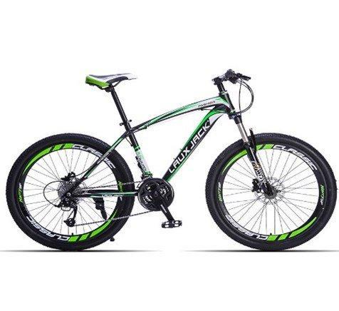 Велосипед фэтбайк LauxJack 40J черно-зеленый
