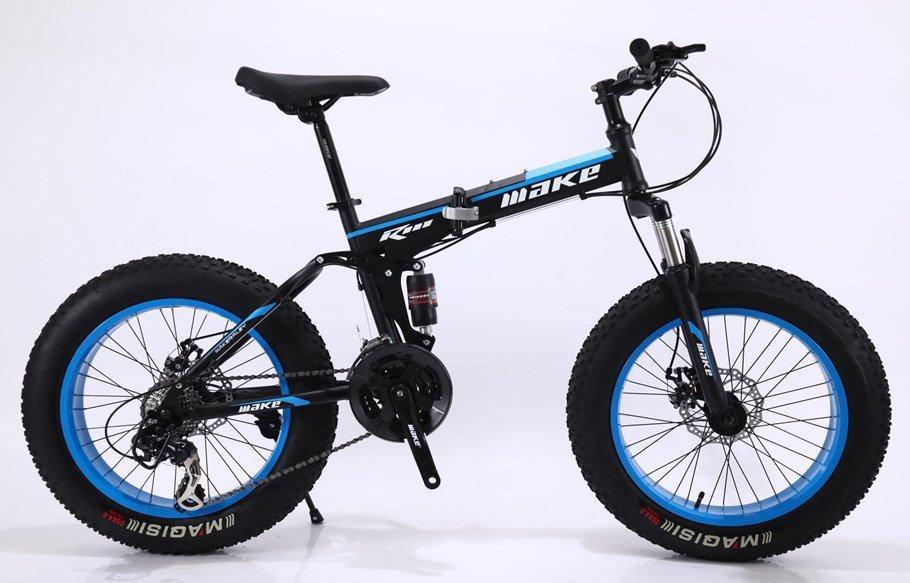 """Велосипед фэтбайк LauxJack Make 20"""" черно-синий"""