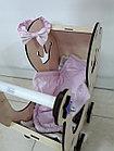 Деревянная коляска для кукол. Ручная работа. Комплект белья в подарок!, фото 3