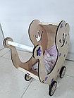 Деревянная коляска для кукол. Ручная работа. Комплект белья в подарок!, фото 5