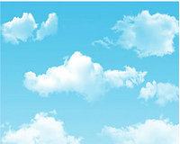 Фото фон горизонтальный, Виниловый, 150х200см. Облака