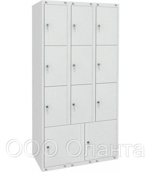 Шкаф металлический для сумок 11 ячеек (900х490х1850) арт. ШМ311