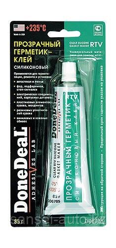 Прозрачный герметик-клей силиконовый