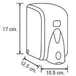 Диспенсер (дозатор) для жидкого мыла Vialli S5В (чёрного цвета) 500мл., фото 3