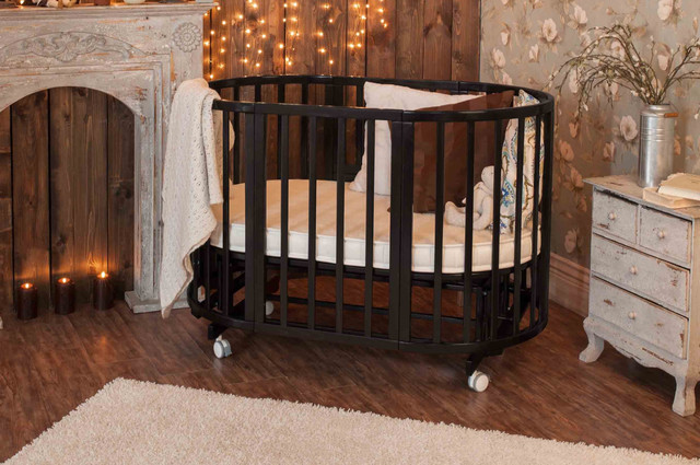 Детские кроватки круглые и овальные