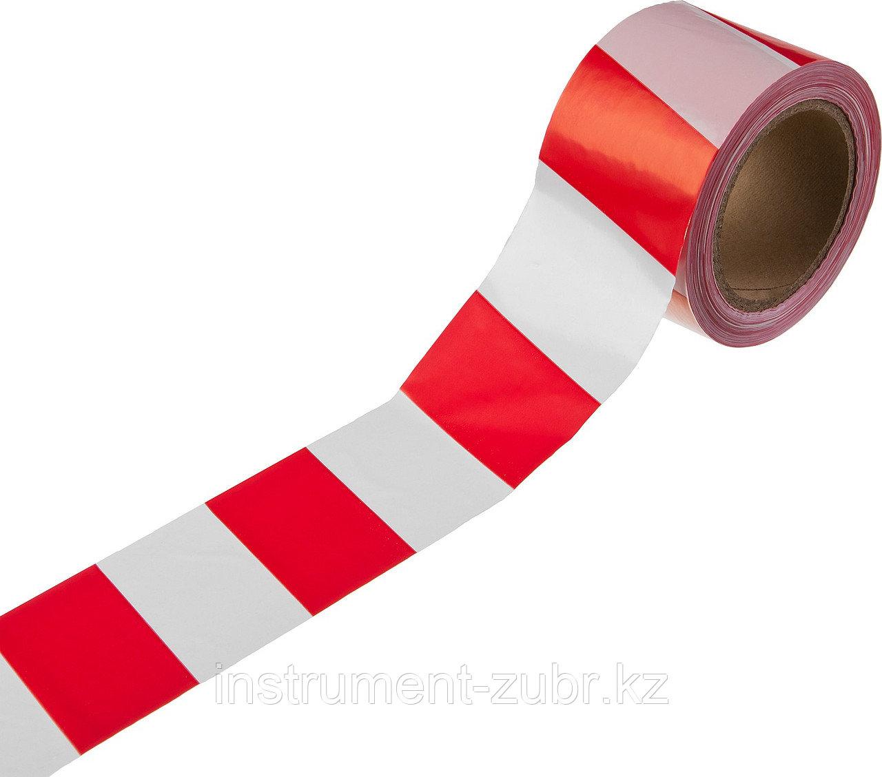 Сигнальная лента, цвет красно-белый, 75мм х 150м, STAYER Master
