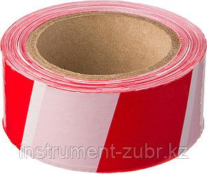 Сигнальная лента, цвет красно-белый, 50мм х 150м, STAYER Master, фото 2