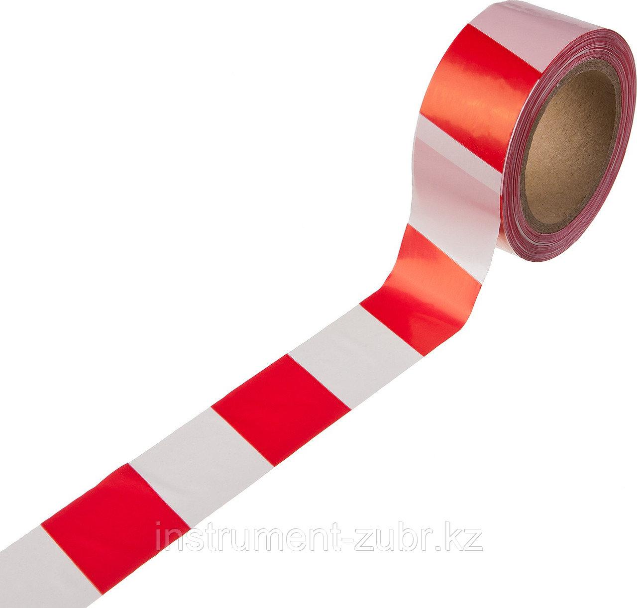 Сигнальная лента, цвет красно-белый, 50мм х 150м, STAYER Master