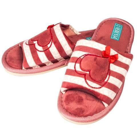 Тапочки домашние с открытым носком VEROSSA (Холодный розовый)