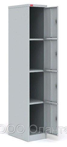 Шкаф металлический для сумок 4 ячейки (300х500х1860) арт. ШРМ14