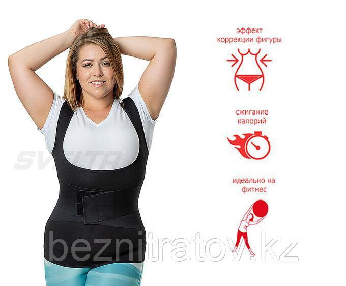Майка-сауна для похудения с утягивающим живот корсетом SV11 Svelta