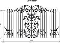 Кованые элементы художественной ковки для ворот