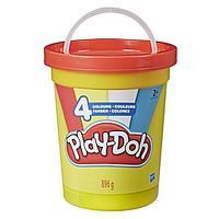 Hasbro Play-Doh Плей-До Масса для лепки - 4 цвета (большая банка)
