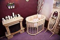 Детская кроватка Incanto Gio DeLuxe 8 в 1 Слоновая кость, фото 1