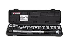 Ключ динамометрический с набором рожковых насадок 13-30 Hans 4673
