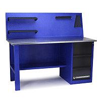 Стол для слесарных работ однотумбовый СТАНКОИМПОРТ 1600 мм с 3-мя ящиками с экраном