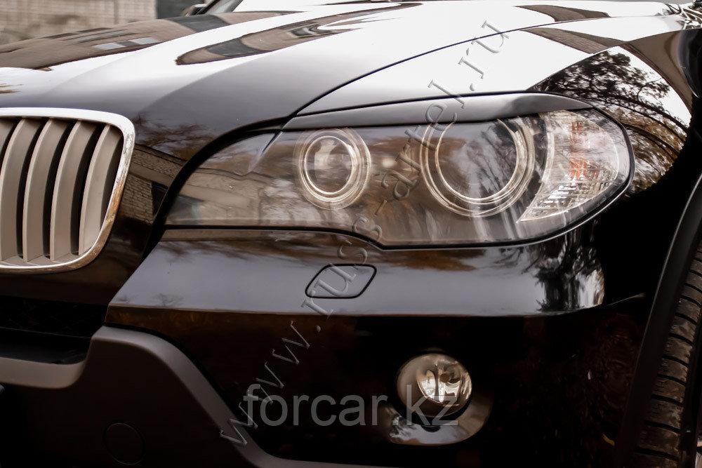Накладки на передние фары (реснички) BMW X5 (E70) 2007-