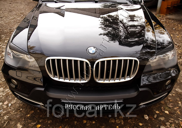 Накладки на передние фары (реснички) BMW X5 (E70) 2007-, фото 2