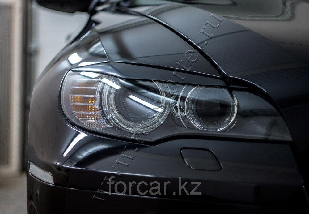Накладки на передние фары (реснички) BMW X6 (E71) 2010-2014