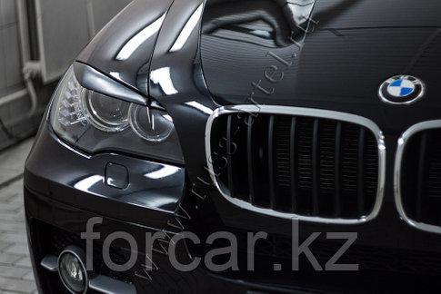 Накладки на передние фары (реснички) BMW X6 (E71) 2010-2014, фото 2