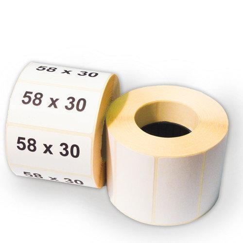 Термоэтикетка самоклеющаяся 58*30 мм (600 эт/рул)