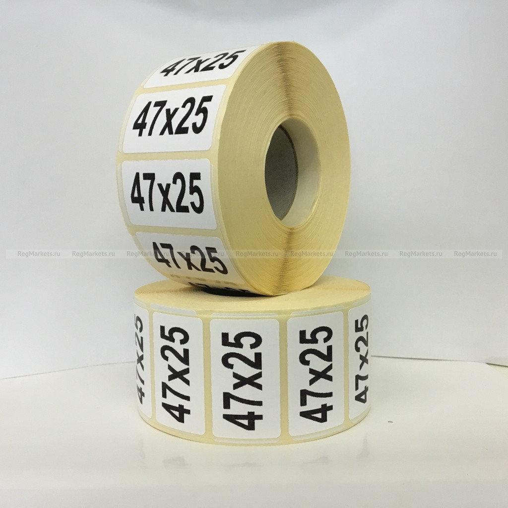 Термоэтикетка самоклеющаяся 47*25 мм (1000 эт/рул)
