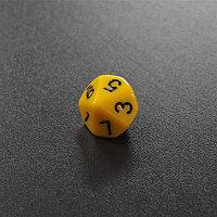 Желтый десятигранный кубик (d10) для ролевых и настольных игр