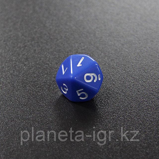 Синий десятигранный кубик (d10) для ролевых и настольных игр