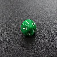 Зеленый десятигранный кубик (d10) для ролевых и настольных игр