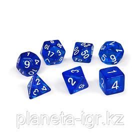 Набор кубиков Единорог синий, D4, D6ц, D8, D10, D12, D20, D%
