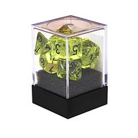Набор кубиков Единорог зеленая скверна прозрачный, D4, D6ц, D8, D10, D12, D20, D%, фото 1