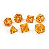 Набор кубиков Единорог желтый прозрачный, D4, D6ц, D8, D10, D12, D20, D%