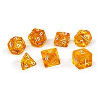 Набор кубиков Единорог желтый прозрачный, D4, D6ц, D8, D10, D12, D20, D%, фото 1