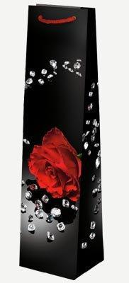 "Пакет ламин. 10х40х9см ""Роза на черном"", бумага , 10 шт, фото 2"