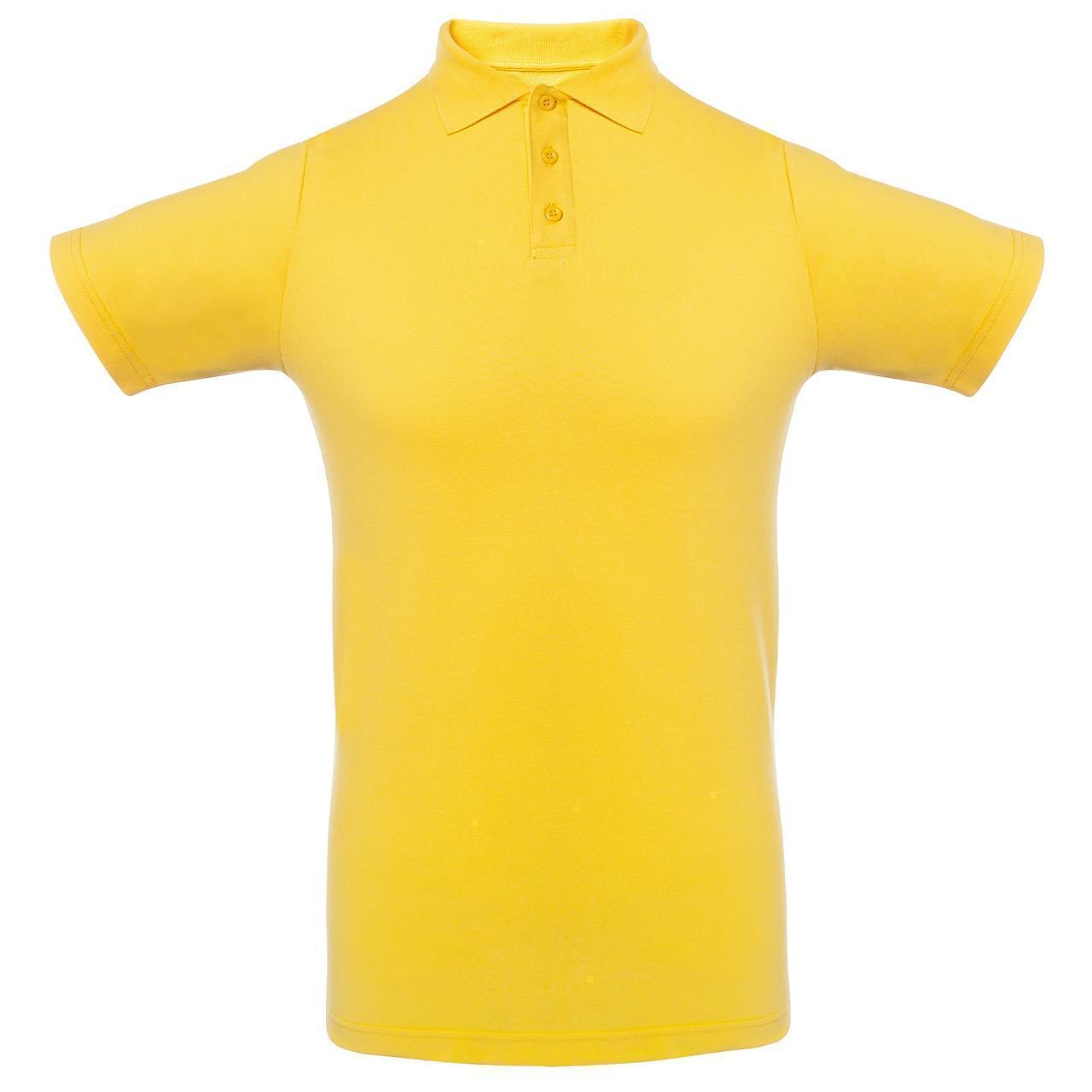 Футболка Поло Желтая.200 гр.3XL