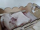 Деревянная кроватка для кукол. Hand made. Манеж. Комплект белья в подарок!, фото 2