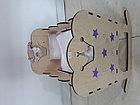 Деревянная кроватка для кукол. Hand made. Манеж. Комплект белья в подарок!, фото 5
