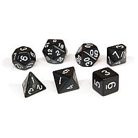 Набор кубиков Единорог черный, D4, D6ц, D8, D10, D12, D20, D%, фото 1